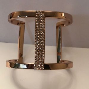 Vince Camuto gold tone cuff bracelet with crystals